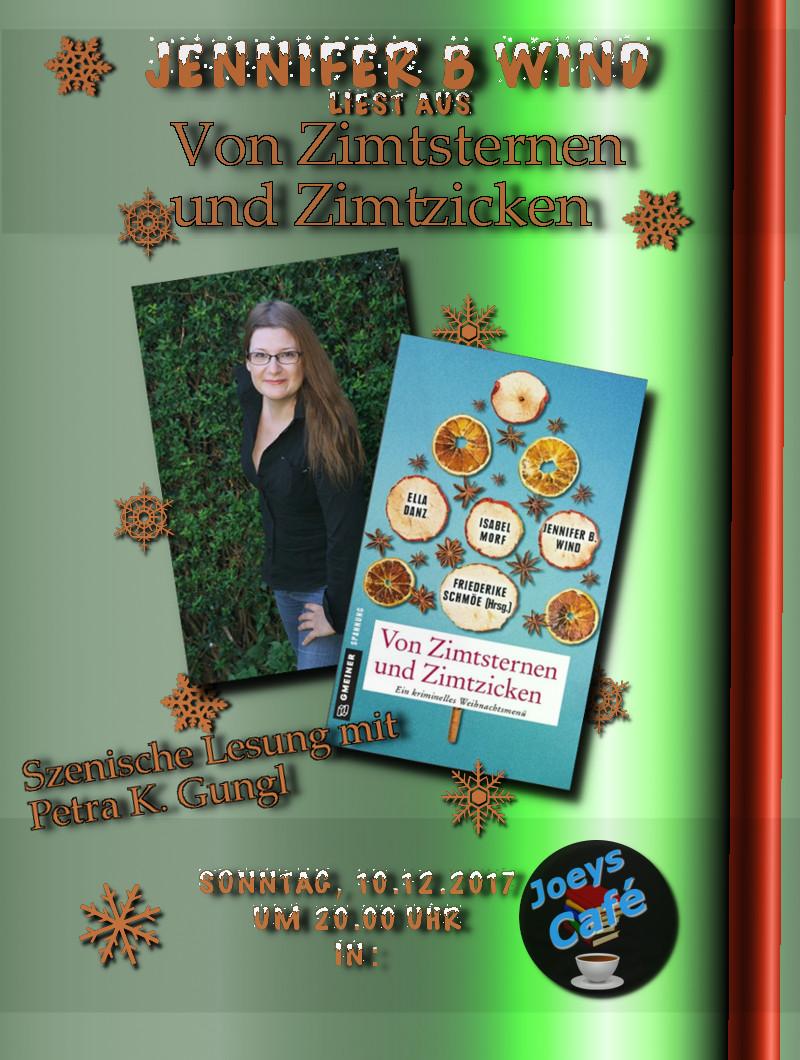 Plakat: LIVE Lesung Jennifer B. wind